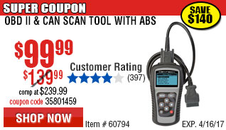OBD II  & CAN Scan Tool with ABS