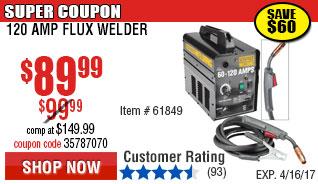 120 Amp Flux Welder