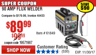120 Amp Flux Welder