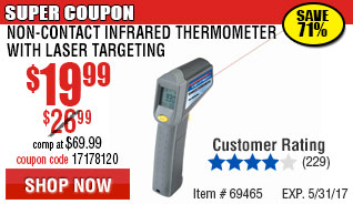 Non-Contact Infrared Thermometer with Laser Targeting