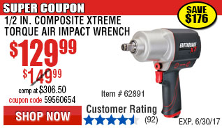 Composit Xtreme Torque Air Impact Wrench