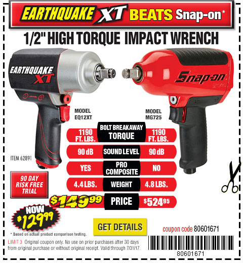 Earthquake XT Impact Wrench