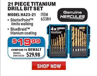 Hercules Titanium Drill Bit Set 21 Pc
