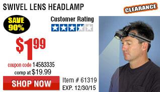 Swivel Lens Head lamp
