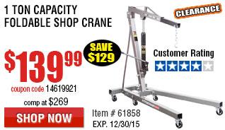 1 Ton Capacity Foldable Shop Crane
