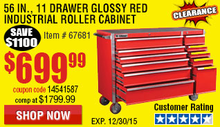 Red Industrial Roller Cabinet