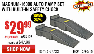 Magnum-16000 Auto Ramp Set with Built-In Safety Chock