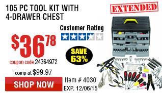 105 piece tool kit