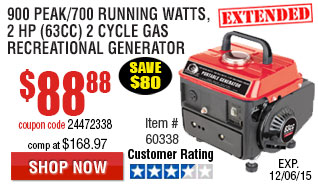 Recreational generator