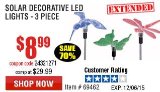 Solar decorative LED lights - 3 pieces