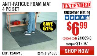 Anti-fatigue foam mat