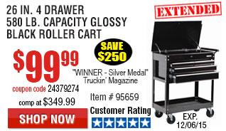 4 drawer roller cart