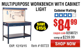 Workbench with Cabinet Light