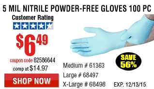 Nitrile Powder-Free Gloves