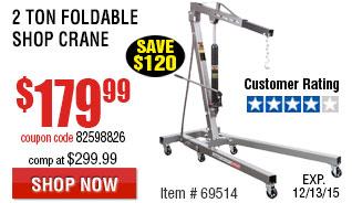 2 Ton Foldable Shop Crane