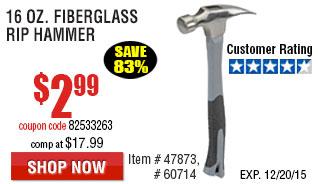 16 oz. Fiberglass Rip Hammer