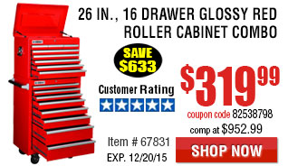 Roller Cabinet Combo