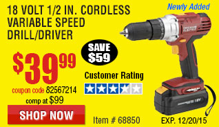 Cordless Variable Speed Drill/Driver