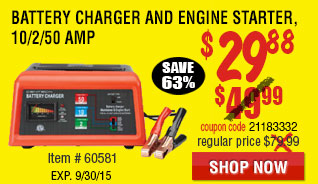 12V Manual Charger With Engine Start