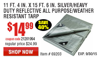Silver/Heavy Duty Reflective All Purpose/Weather Resistant Tarp