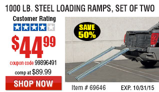Steel Loading Ramps, Set of Two