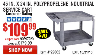 Polypropylene Industrial Service Cart