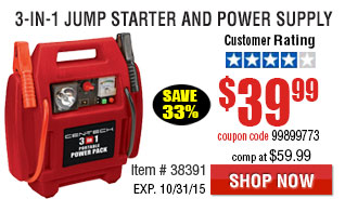 3-in-1 Jump Starter and Power Supply