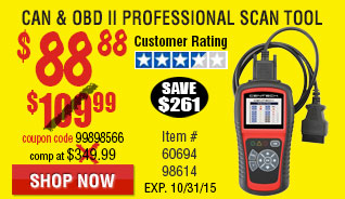 OBD II  & CAN Professional Scan To