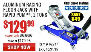 2 Ton Aluminum Racing Floor Jack with Rapid Pump®