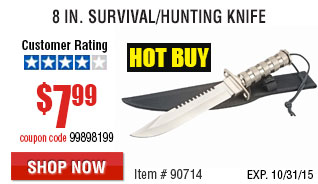 8 in. Survival/Hunting Knife