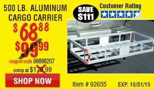 500 lb. Capacity Aluminum Cargo Carrie