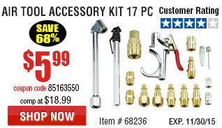 17 Pc Air Tool Accessory Kit