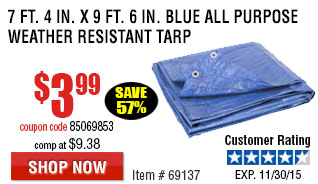 Blue All Purpose/Weather Resistant Tarp