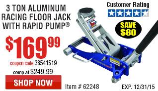 3 Ton Aluminum Racing Floor Jack with RapidPump