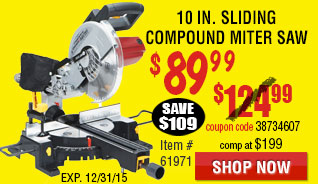 10 in. Sliding Compound Miter Saw with Laser Guide System