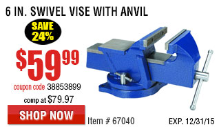 6 in. Swivel Vise with Anvil