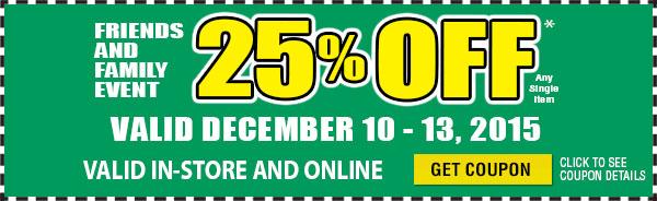 25% Off Coupon