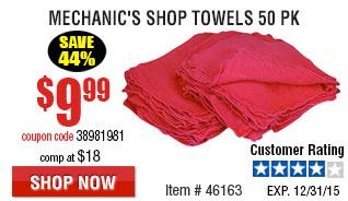 Mechanic's Shop Towels 50 Pk