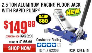 2.5 Ton Aluminum Racing Floor Jack with Rapid Pump