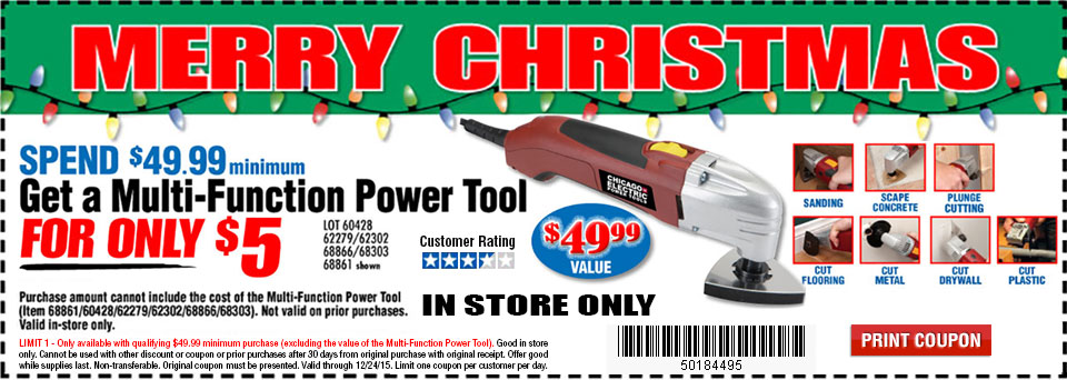 Get A Multi-Function Power Tool For 5 dollars