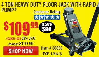 4 ton Steel Heavy Duty Floor Jack with Rapid Pump¨