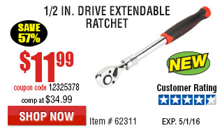1/2 in. Drive Extendable Ratchet