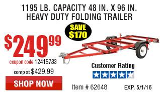 1195 lb. Capacity 48 in. x 96 in. Heavy Duty Folding Trailer