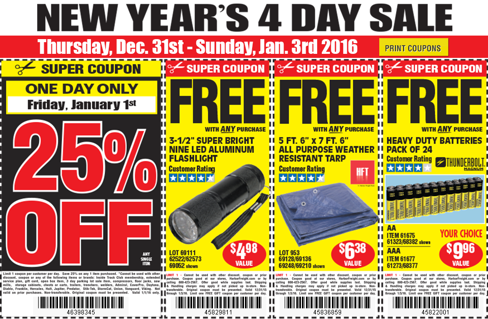 New Year's Day Coupons