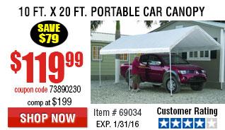 110 ft. x 20 ft. Portable Car Canopy
