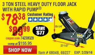3 ton Steel Heavy Duty Floor Jack with