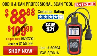 OBD II  & CAN Professional Scan Tool