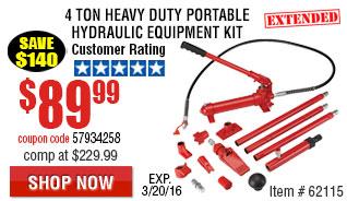 T4 Ton Heavy Duty Portable Hydraulic Equipment Kit
