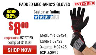 Padded Mechanic's Gloves