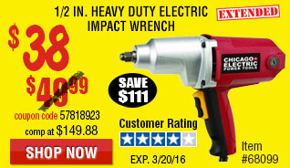 1/2 in. Heavy Duty Electric Impact Wrench